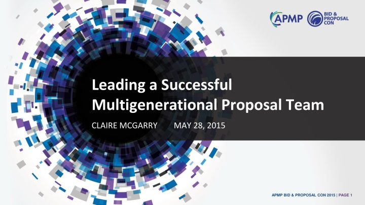 leading a successful multigenerational proposal team n.