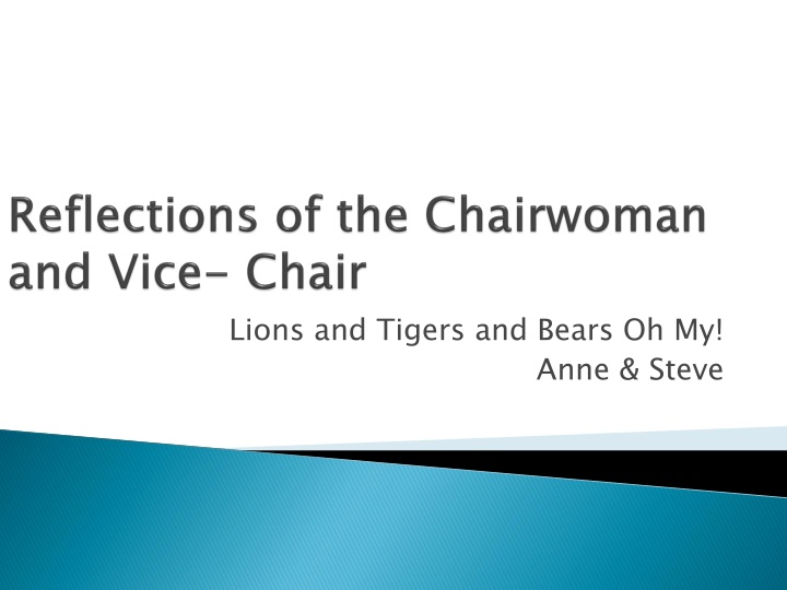 reflections of the chairwoman and vice chair n.