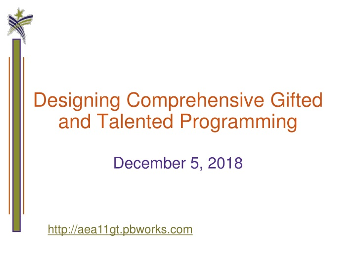 designing comprehensive gifted and talented programming n.