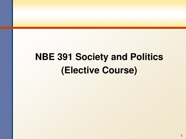 nbe 391 society and politics elective course n.