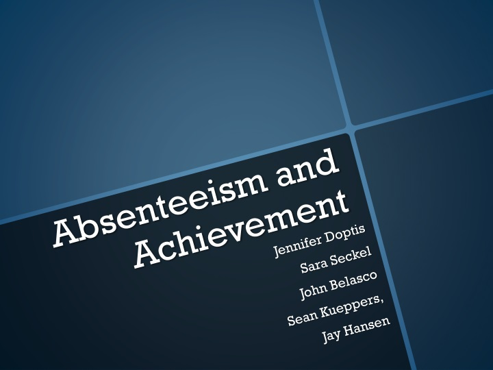 absenteeism and achievement n.