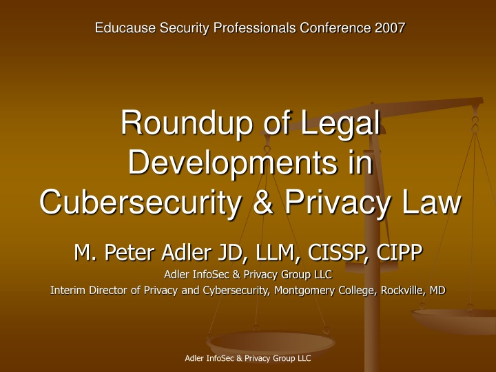 roundup of legal developments in cubersecurity privacy law n.