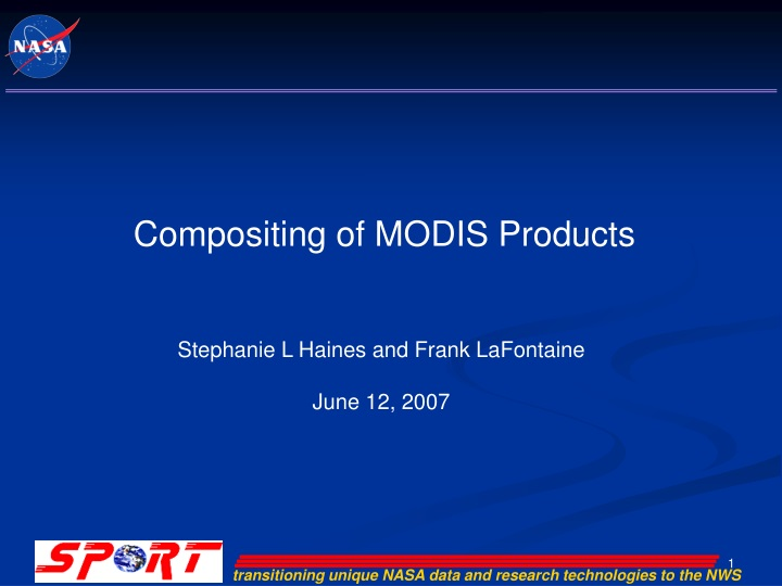 compositing of modis products n.