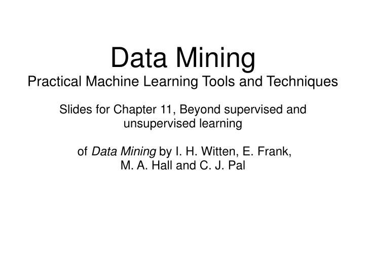 data mining practical machine learning tools n.