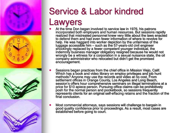 service labor kindred lawyers n.