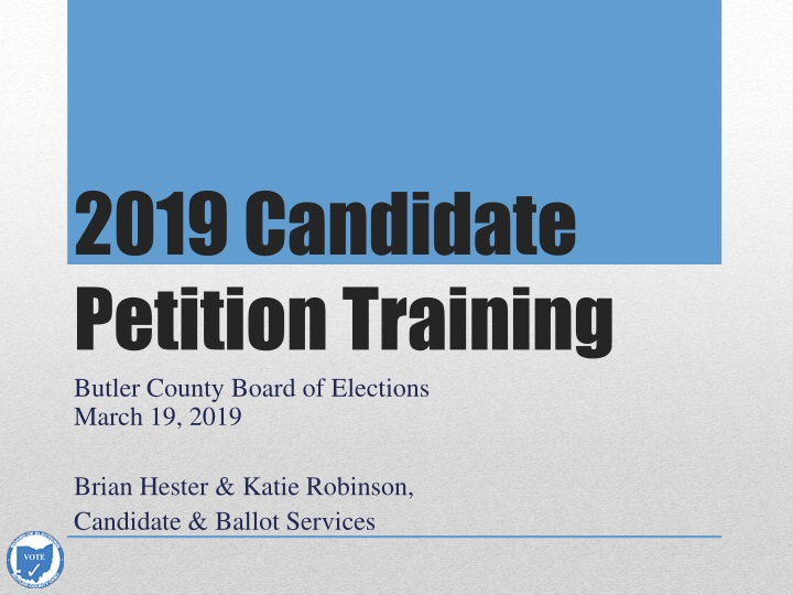 2019 candidate petition training n.