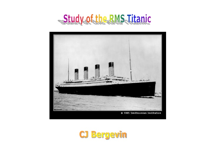 study of the rms titanic n.