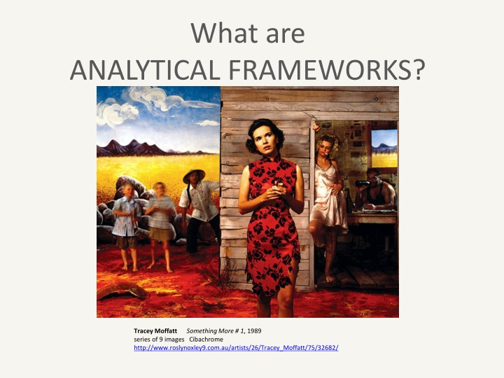 what are analytical frameworks n.