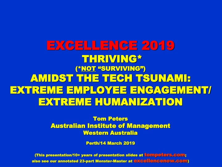 excellence 2019 thriving not surviving amidst n.