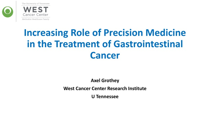 increasing role of precision medicine in the treatment of gastrointestinal cancer n.