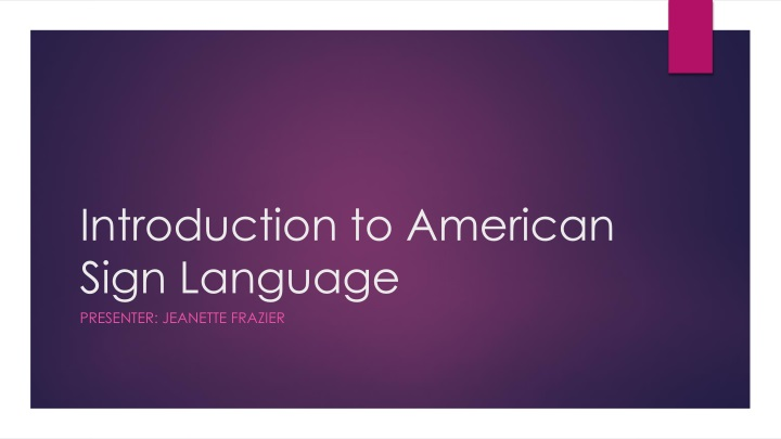 introduction to american sign language n.