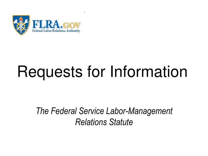 requests for information n.
