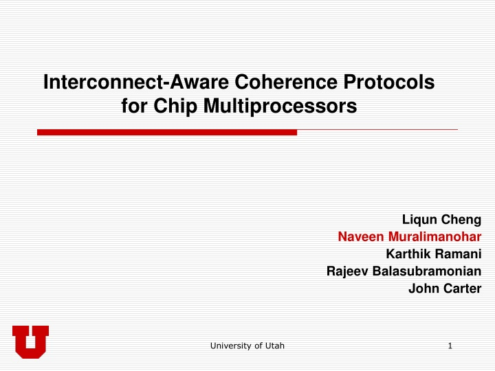 interconnect aware coherence protocols for chip multiprocessors n.