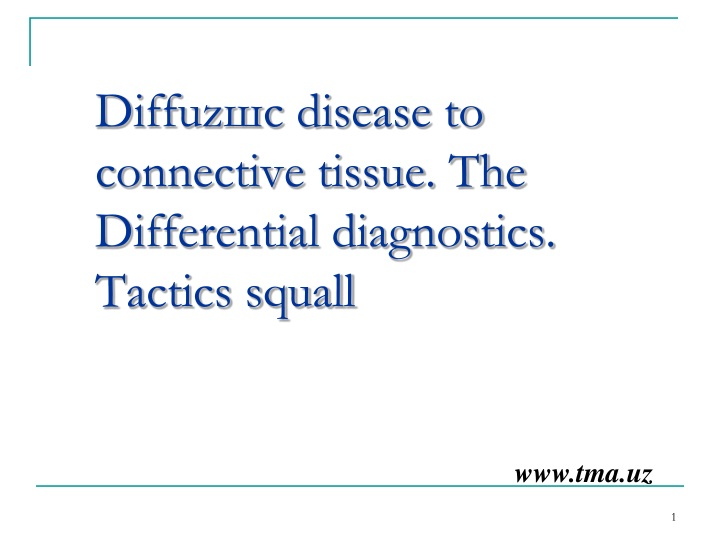 diffuz disease to connective tissue the differential diagnostics tactics squall n.