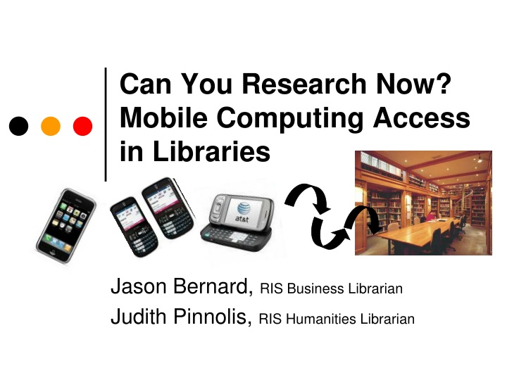 can you research now mobile computing access in libraries n.