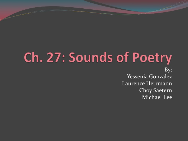 ch 27 sounds of poetry n.
