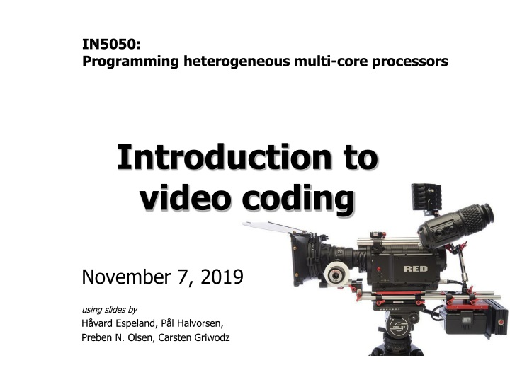 introduction to video coding n.
