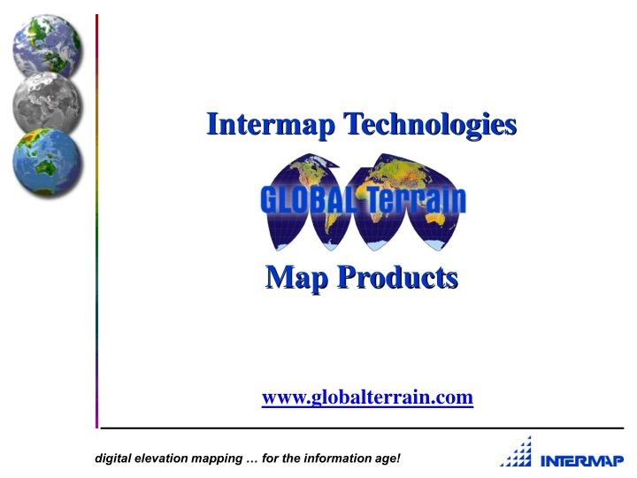 intermap technologies map products n.