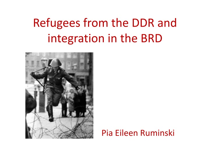 refugees from the ddr and integration in the brd n.