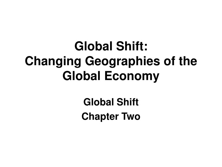 global shift chapter two n.