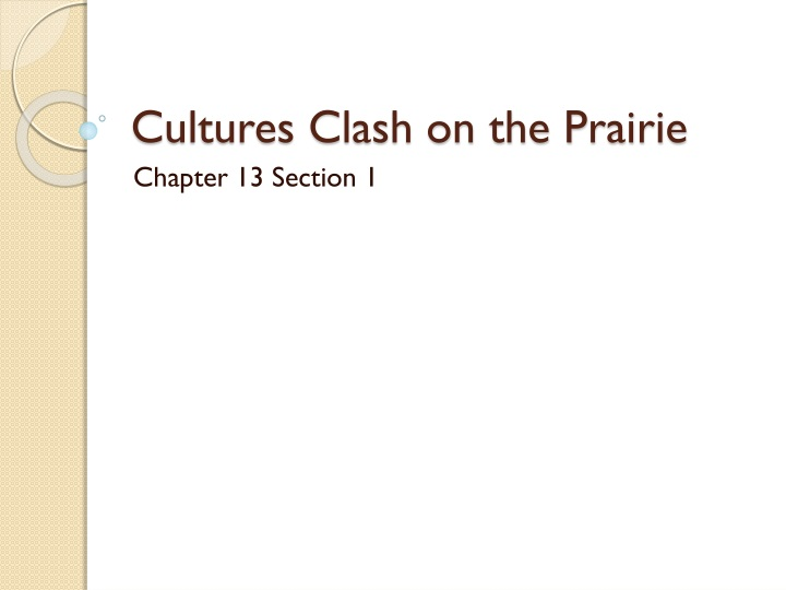 cultures clash on the prairie n.