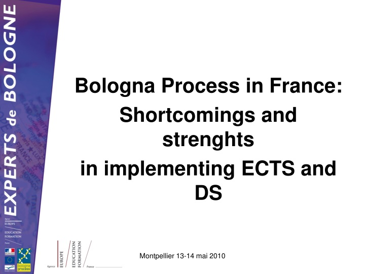 bologna process in france shortcomings and strenghts in implementing ects and ds n.
