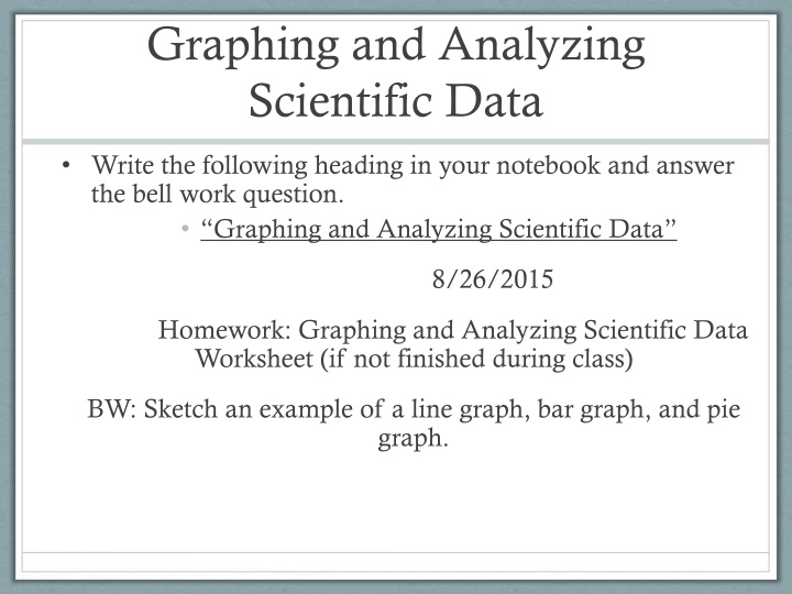 graphing and analyzing scientific data n.