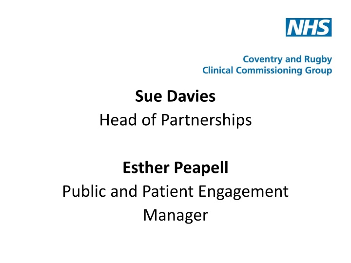 sue davies head of partnerships esther peapell n.