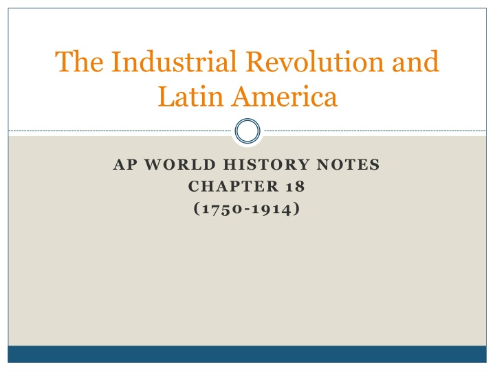 the industrial revolution and latin america n.