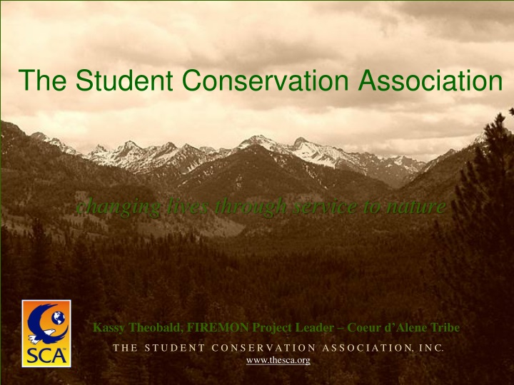 the student conservation association n.