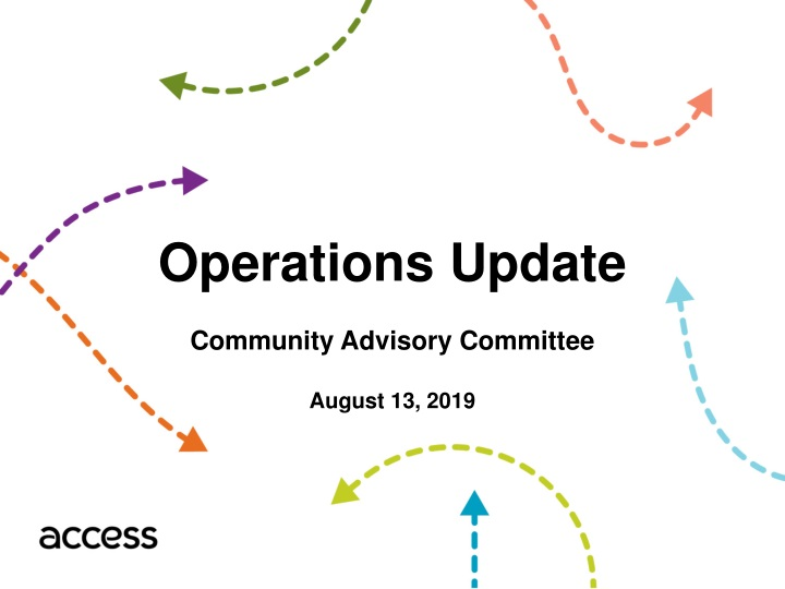operations update community advisory committee n.