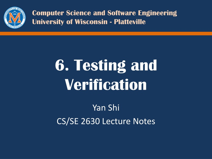 6 testing and verification n.
