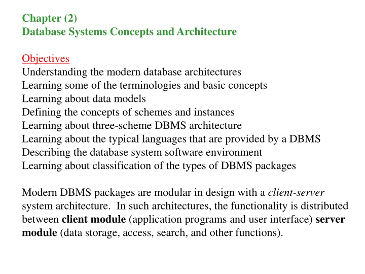 chapter 2 database systems concepts n.