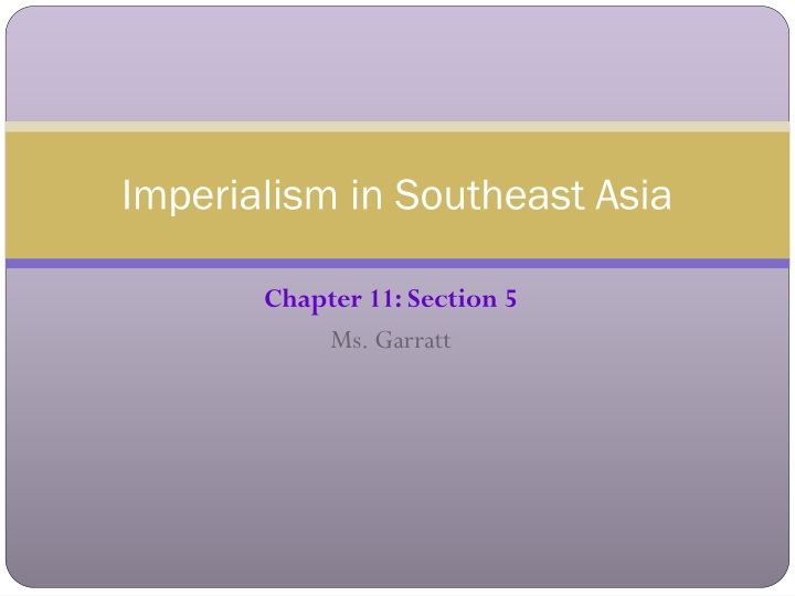 imperialism in southeast asia n.