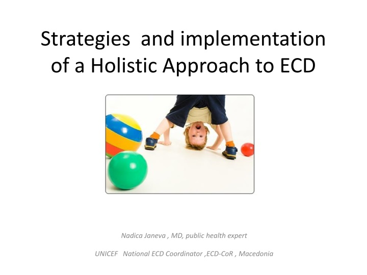 strategies and implementation of a holistic approach to ecd n.