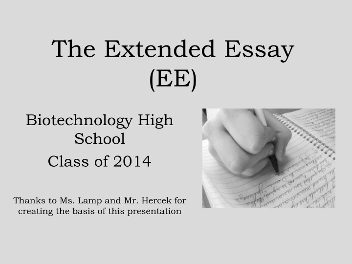 the extended essay ee n.