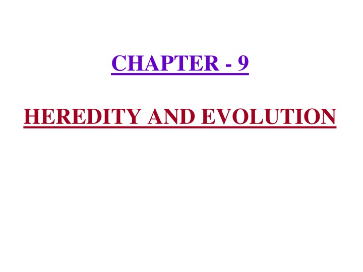 chapter 9 heredity and evolution n.