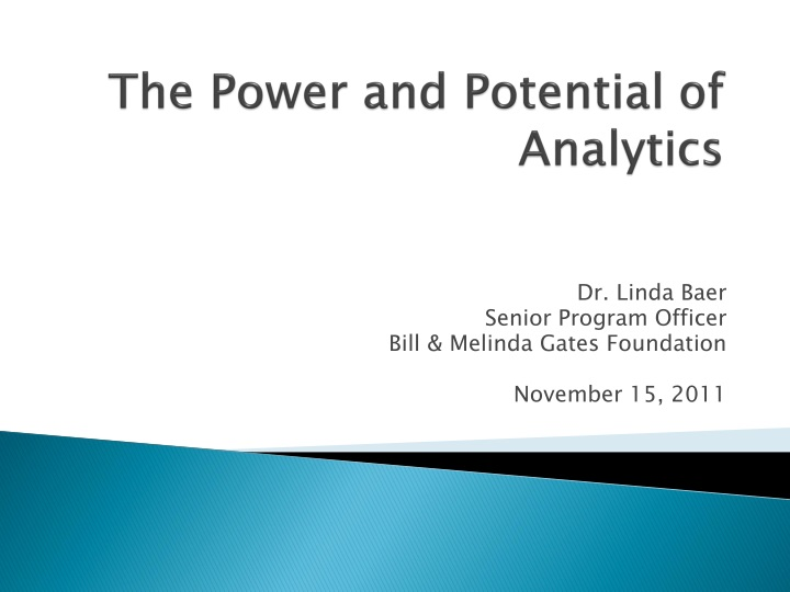 the power and potential of analytics n.