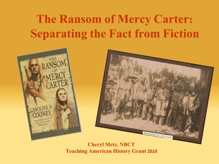 the ransom of mercy carter separating the fact n.