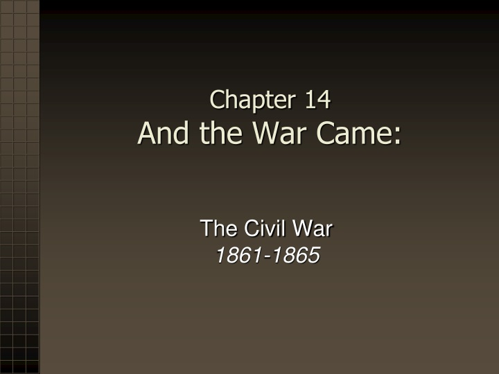 chapter 14 and the war came n.