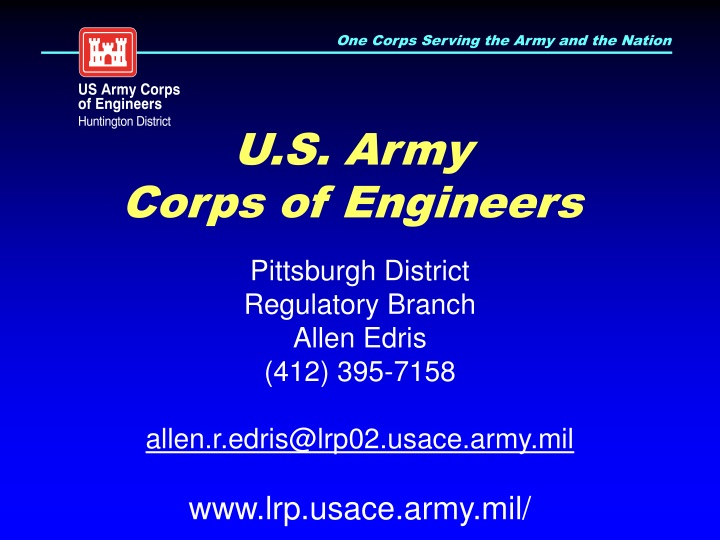 u s army corps of engineers n.