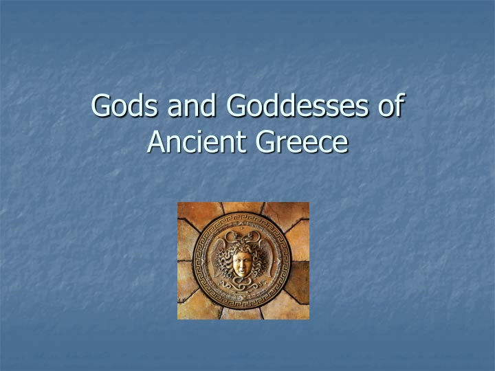 gods and goddesses of ancient greece n.