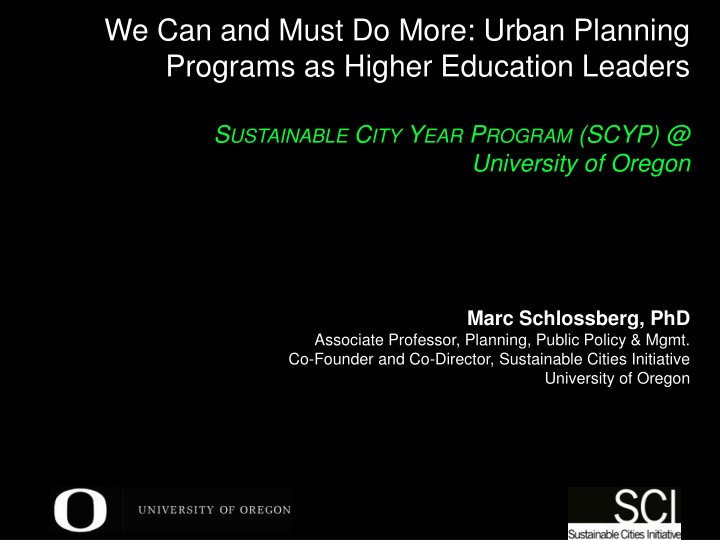 we can and must do more urban planning programs n.