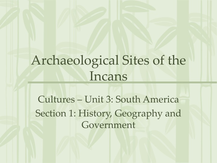 archaeological sites of the incans n.