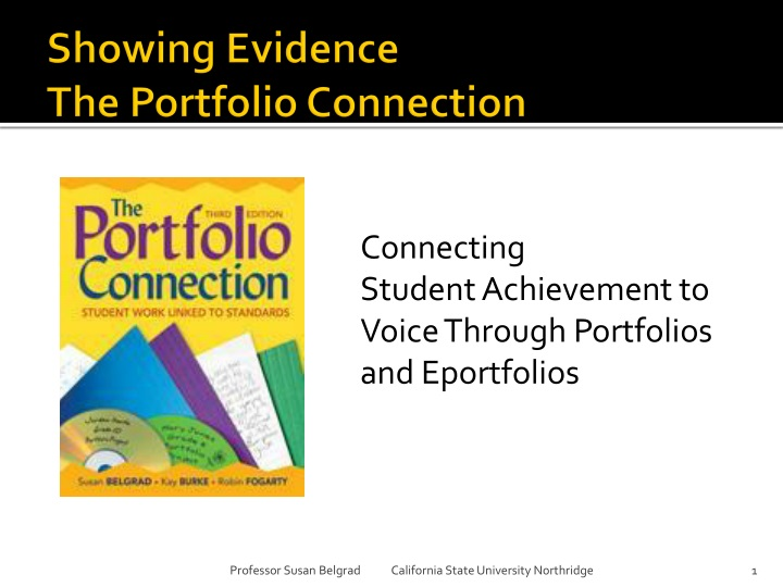 showing evidence the portfolio connection n.