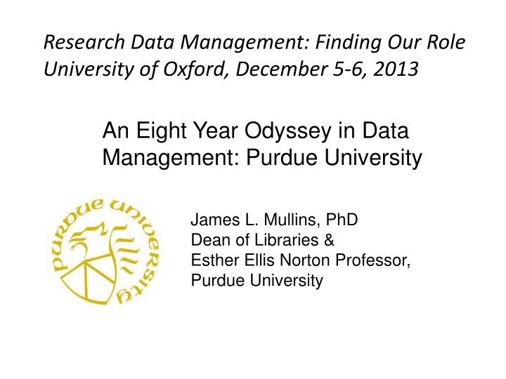 research data management finding our role n.