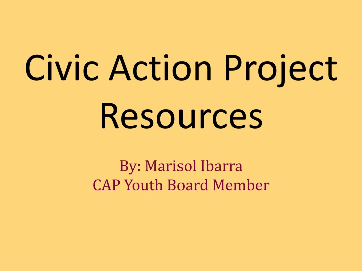 civic action project resources n.