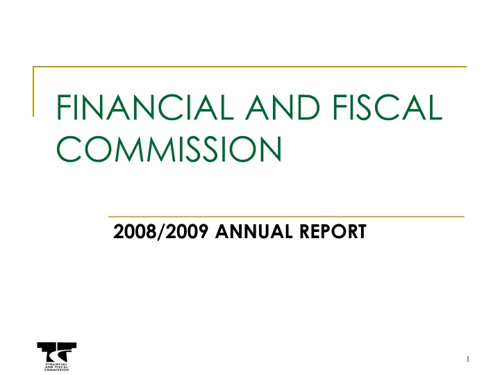 financial and fiscal commission n.