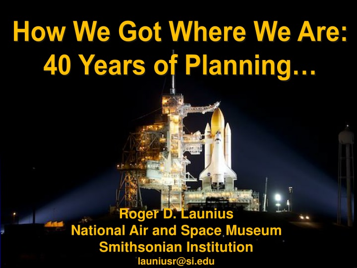 how we got where we are 40 years of planning n.