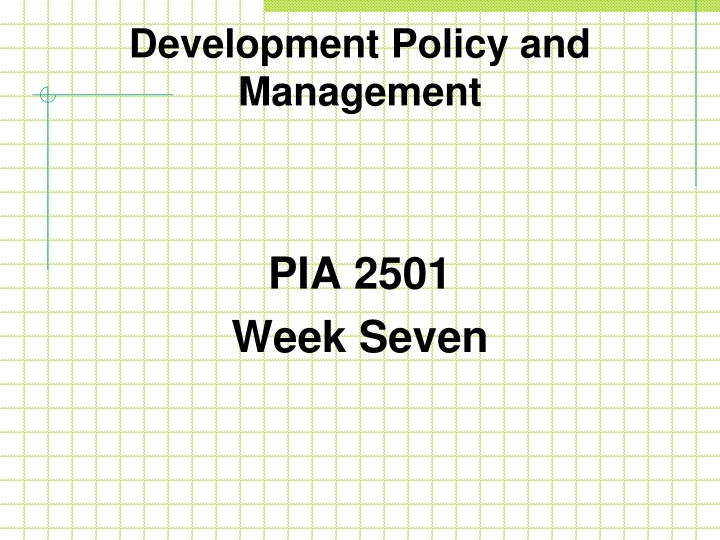 development policy and management n.